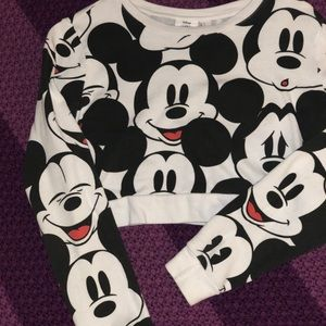 F21 Mickey Mouse Collection Crop Top